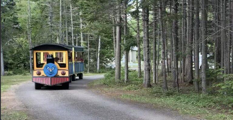 petit train - attrait Quoi faire Camping Shippagan - Nouveau-Brunswick N.B - Réservation Camping